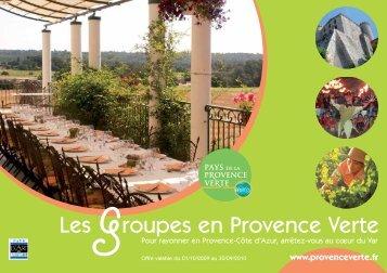 Les groupes en Provence Verte - La Provence verte