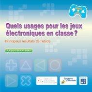 Quels usages pour les jeux électroniques en classe - Games in ...