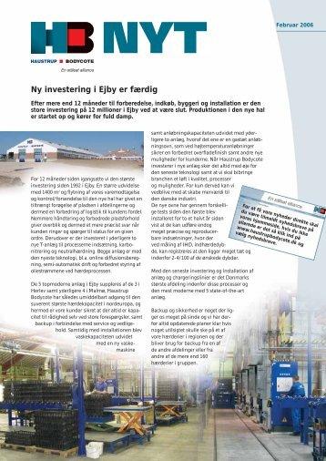 Ny investering i Ejby er færdig - Dansk