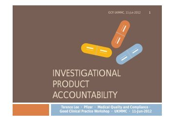 investigational product accountability - UKM Medical Centre