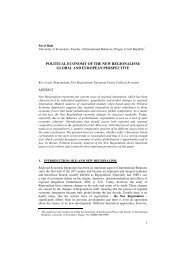 POLITICAL ECONOMY OF THE NEW REGIONALISM: GLOBAL ...