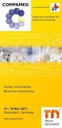 16 – 18 Nov 2011 Düsseldorf • Germany Visitor Information ...