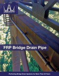 Typical Components of a Fiberglass Bridge Drain System