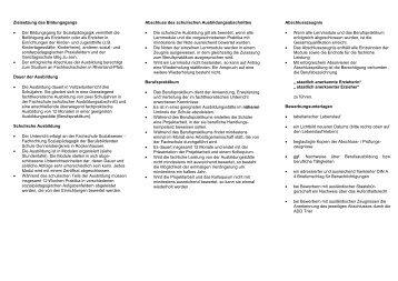 Zielsetzung des Bildungsgangs - Unsere Schule - BBS ...