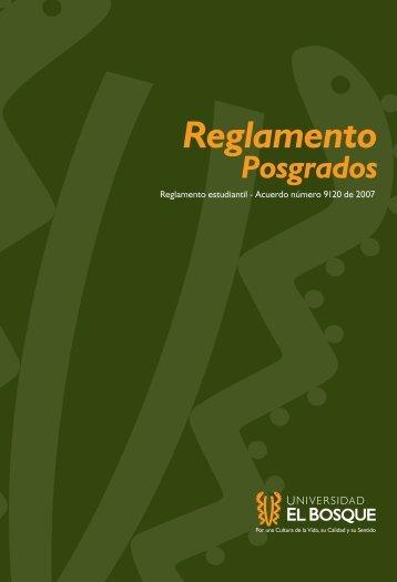 Reglamento Posgrados - Universidad El Bosque