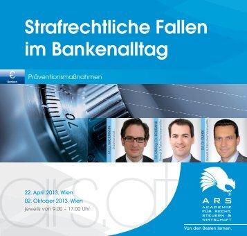 Strafrechtliche Fallen im Bankenalltag - Rechtsanwälte Brandl & Talos
