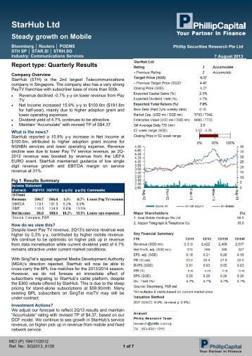 StarHub Ltd - Under Construction Home - Phillip Securities Pte Ltd