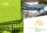 Prop Therapiezentrum Aiglsdorf 40 Jahre - Prop eV