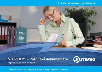 STEREO 21 – Rozdílová dokumentace - Ježek software