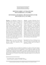 Hipótesis sobre la fundación del Monasterio de la - Revista de ...