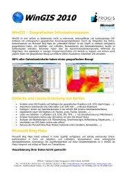 WinGIS 2010 - PROGIS Software  GmbH