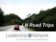 LN Road Trips - Leadership Network