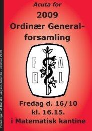 2009 Ordinær General- forsamling - fadl.dk