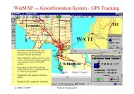 WinMAP (TM) Geoinformation System - GPS Tracking y g