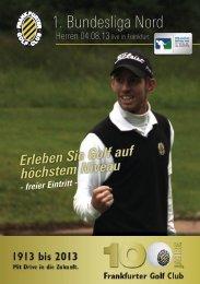 1. Bundesliga Nord - Frankfurter Golf Club e.V.