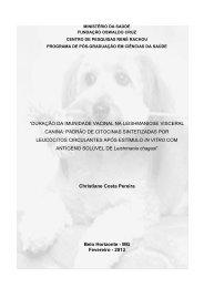 duração da imunidade vacinal na leishmaniose visceral canina ...