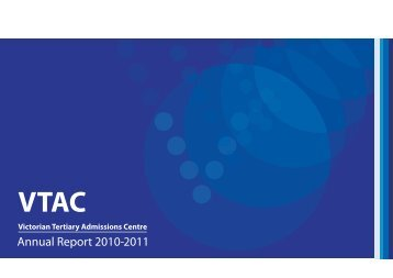 Download the 2010-2011 Annual Report - VTAC