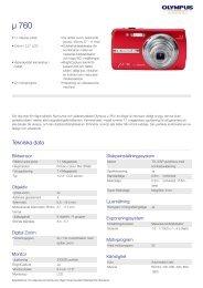 µ 760, Olympus, Compact Cameras
