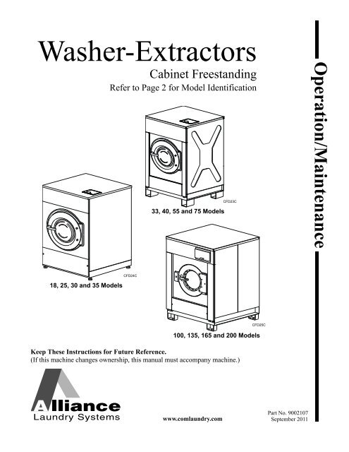 unimac washer wiring diagram operation maintenance for washer extractors  cabinet unimac  maintenance for washer extractors