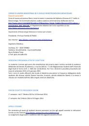 Manifesto degli Studi - Scuola Universitaria Interfacoltà per le ...