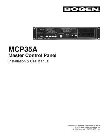 mcp35a master control panel manual bogen paging rh yumpu com Commercial Door Intercom Systems IntraSonic Intercom System