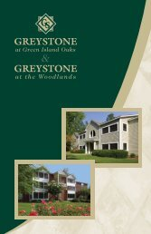 at the Woodlands - Greystone Properties