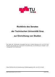 Richtlinie des Senates zur Einrichtung von Studien - mibla.TUGraz.at
