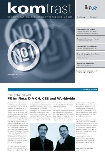 PR im Netz: D-A-CH, CEE und Worldwide