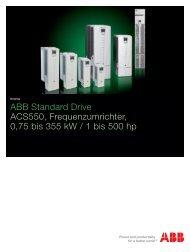 ABB Standard Drive ACS550, Frequenzumrichter, 75 bis 355 kw ...