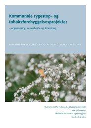 Kommunale rygestop- og tobaksforebyggelsesprojekter