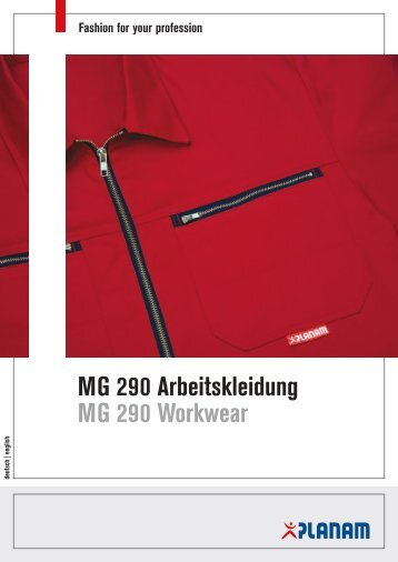 MG 290 Arbeitskleidung MG 290 Workwear