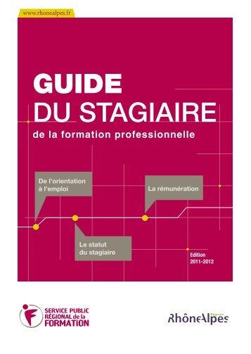 Guide du stagiaire - Le site d'assistance utilisateurs des extranets ...