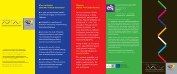 the Declaration Info Brochure - European Festivals Association