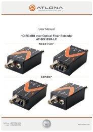 HD/SD-SDI over Optical Fiber Extender AT-SDI10SR-LC - Atlona