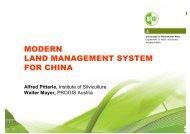 modern land management system land management system for china