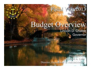 FY 2013 Budget Briefing - Budget Office - RI.gov