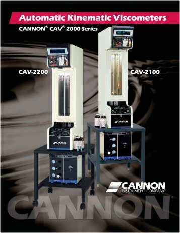CANNON CAV® 2000 Series Automatic Viscometers