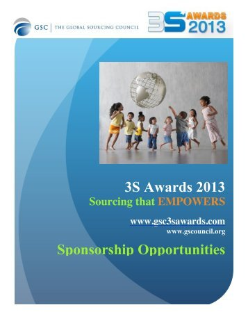 sponsorship prospectus - GSC 3S Awards