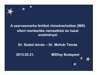 Dr.Szabó István és Dr. Molnár Tamás Hazai és nemzetközi ...