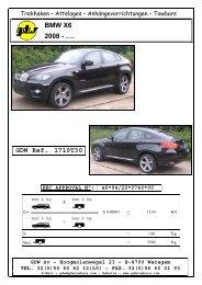 BMW X6 2008 - …. GDW Ref. 1710T30 - Home - AHK - RATGEBER
