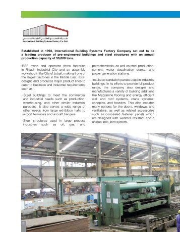International Building Systems Factory Company Profile