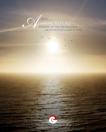 2010 Annual Report - Ngā Pae o te Māramatanga