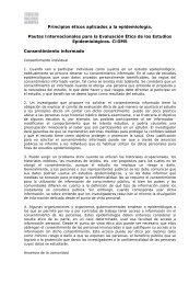 Principios éticos aplicados a la epidemiología. Pautas ...