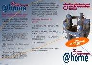 Flyer Hauskreis für junge Erwachsene - Ev. Kreisjugenddienst Norden