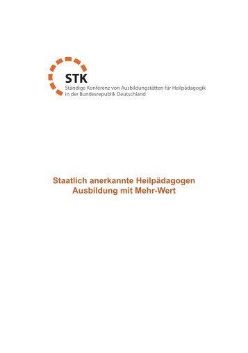 Ausbildung mit Mehr-Wert - STK Heilpädagogik