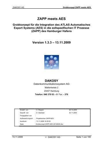 Grobkonzept ZAPP meets AES - DAKOSY ...