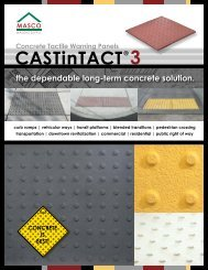 CASTinTACT® Precast Concrete Tactile Warning Panels - masco.net