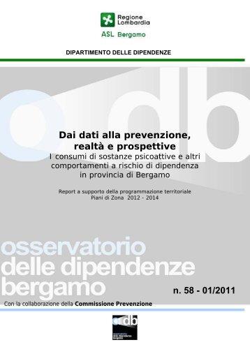 Osservatorio delle Dipendenze di Bergamo - Anno ... - Epid.ifc.cnr.it