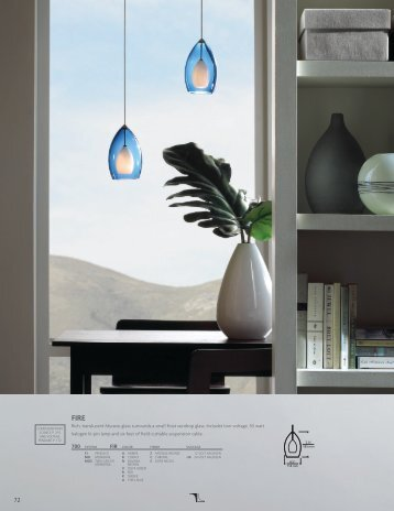 Rich, translucent Murano glass surrounds a small ... - Tech Lighting
