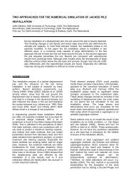 two approaches for the numerical simulation of ... - Geo-Engineering